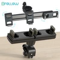 BFOLLOW-Soporte Universal de Triple Clip para tableta, iPad Pro, teléfono móvil de 12,9 pulgadas, rotación de 360 grados, trípode