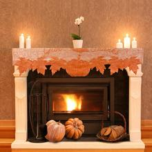 1PC Thanksgiving Cloth fireplace towel Pumpkin Vintage Blessed Harvest Time Gobble Thanks Giving Day Supplies Decor