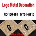 10 шт \ сумка письмо логотип металлическая отделка ногтей ювелирных изделий высокое качество УФ-гель ногтей из полотого металла пластины уль...