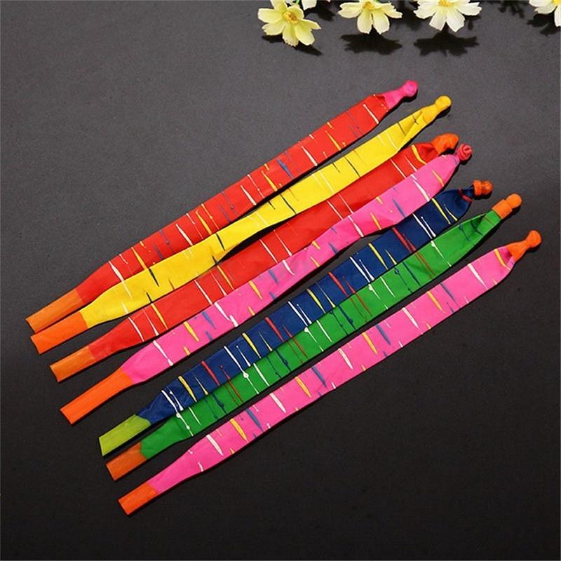 100 x cores sortidas longa foguete balões