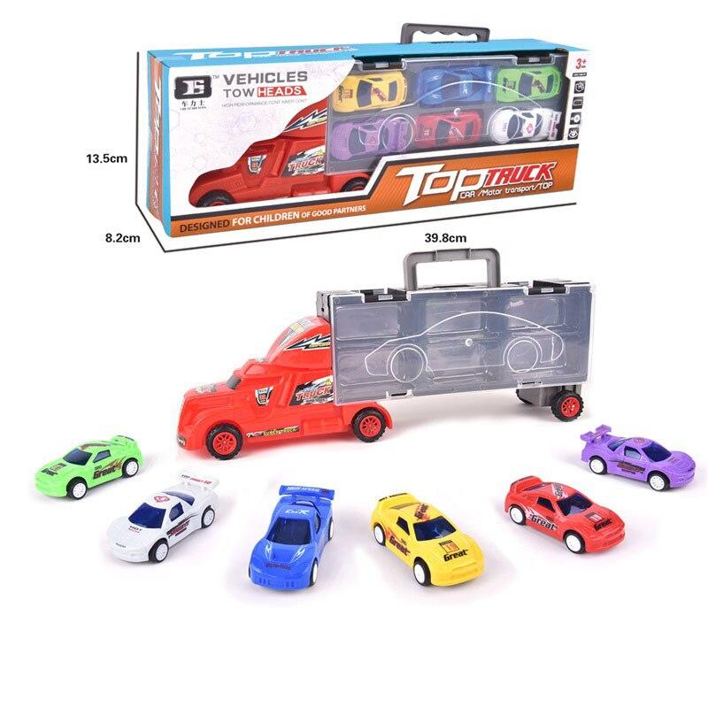 Детская модель ручной контейнер модель автомобиля игрушечный автомобиль 6 штук вытяжной автомобиль игрушка для мальчика