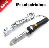 220V 150W 50-350C gradi regolabile mini ferro da stiro elettrico per abbigliamento in pelle 87 millimetri X 27 millimetri