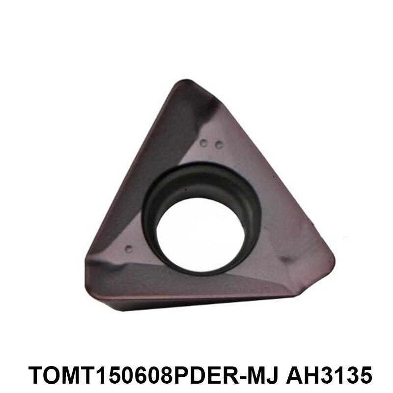 Original Tungaloy TOMT 150608 TOMT150608PDER-MJ TOMT150608 PDER AH3135 Carbide Inserts Lathe Cutter CNC Turning Tools