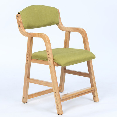 Adjustable Lifting Child Seat Solid Wood Children's Study Chair Back Desk Chair Primary School Chair Home Writing Chair Dotomy