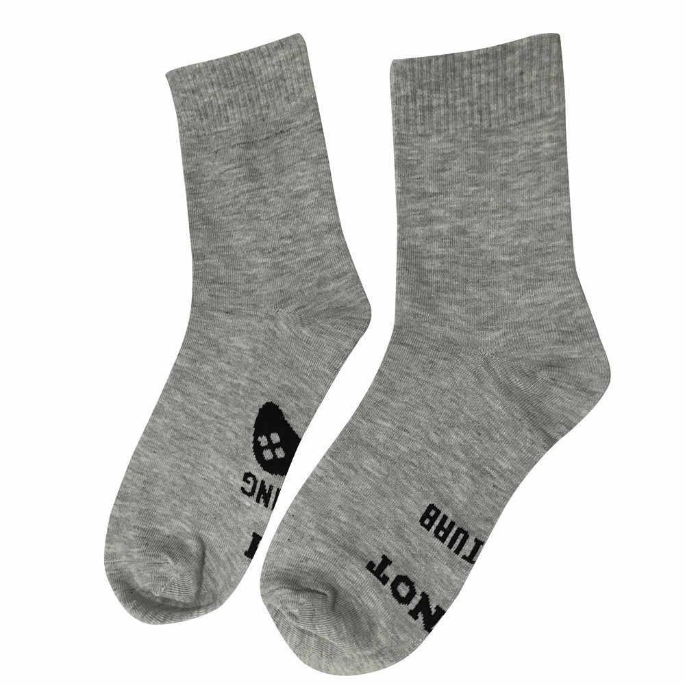 Masculino unissex unisex não perturbe great grande gamer carta presente engraçado meados de bezerro meias altas puro algodão masculino meias novo 2019