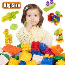 240g-1400g grande bloco de construção série duploes diy grande bloco de construção conjunto grande partícula bloco de construção brinquedo das crianças