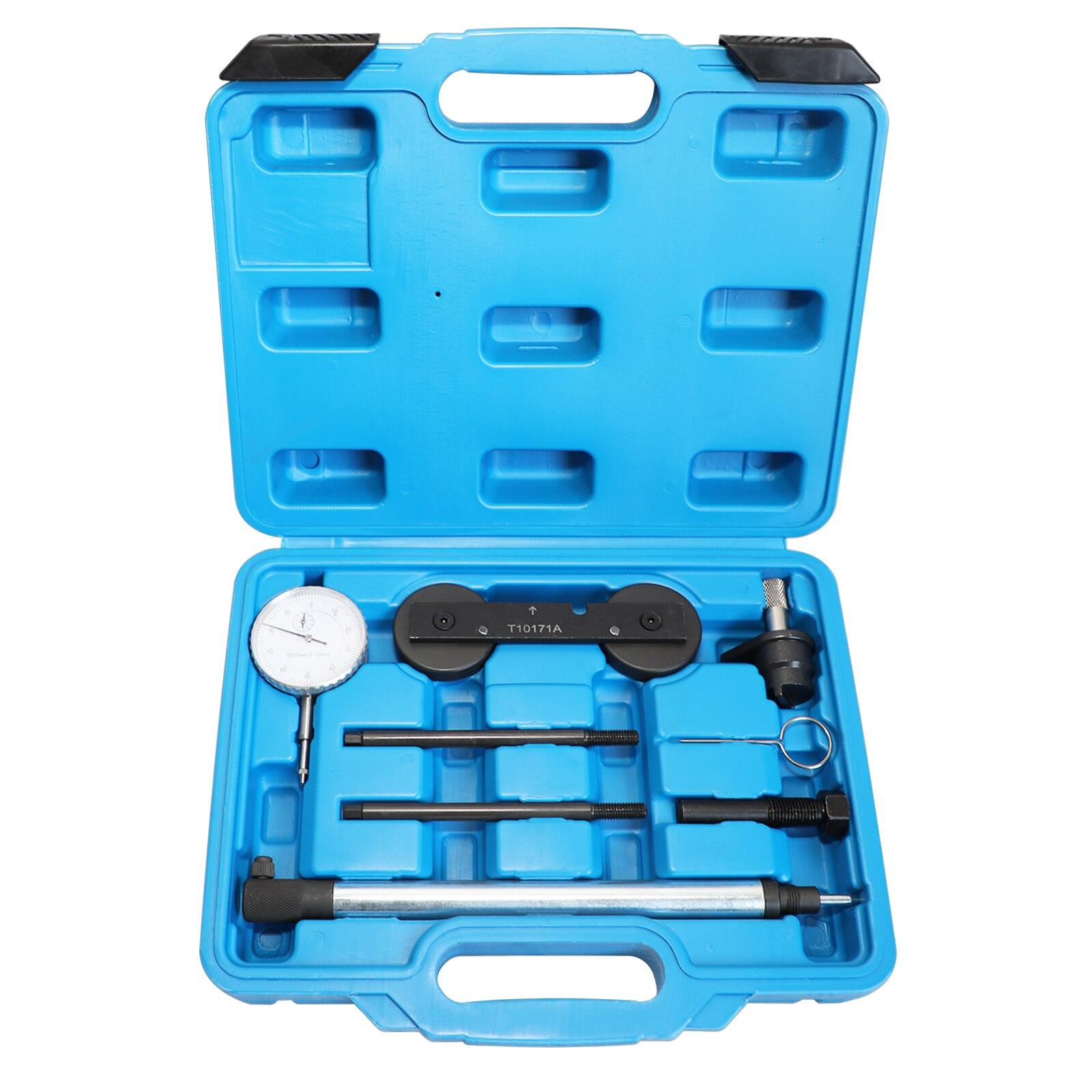 T10171A Engine Timing Tool Kit  For  VW AUDI 1.4/1.6FSi 1.4 TSi 1.2TFSi/FSi Inc Dial Gauge Tdc & Locking Tools For  VW AUDI 1.4