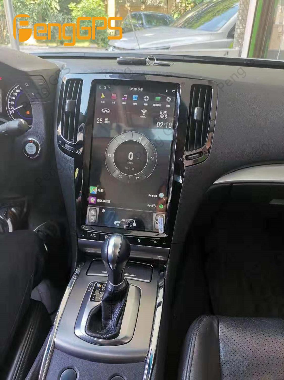 テスラスタイル縦画面インフィニティG37 G35 G25 G37S Q60S 2007-2013カーラジオマルチメディアビデオプレーヤーナビゲーションgps 2din