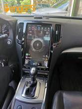 Pantalla Vertical de estilo Tesla para Infiniti G37, G35, G25, G37S, Q60S, 2007-2013, Radio Multimedia, reproductor de vídeo, navegación GPS, 2DIN