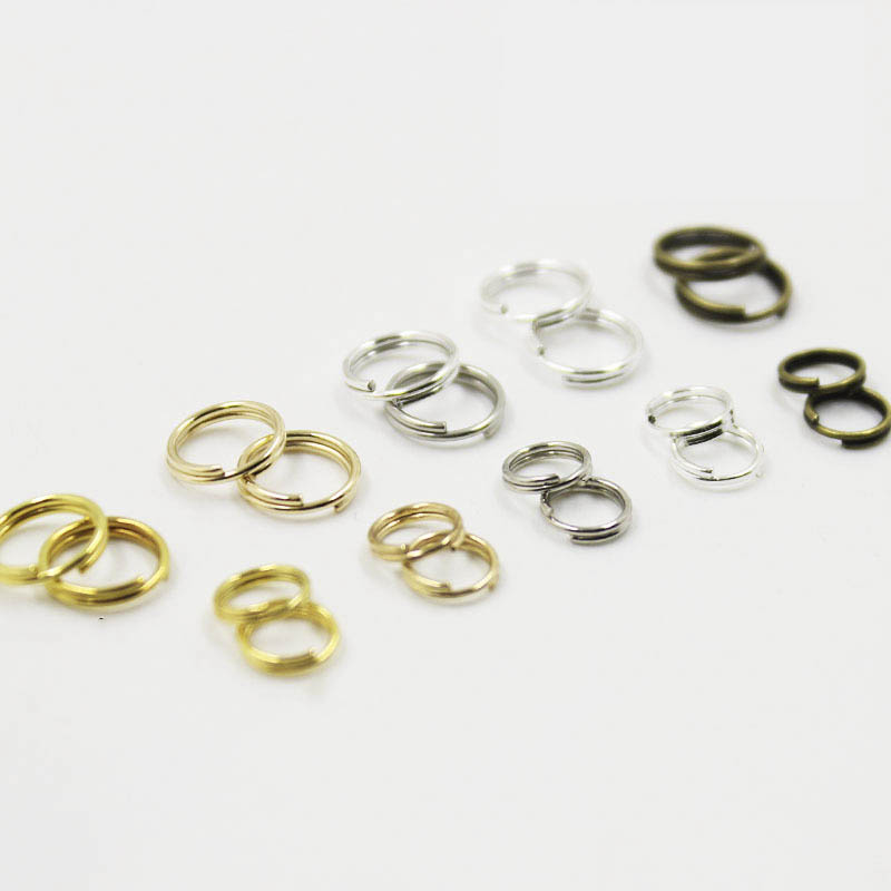 200pcs 6/8mm Double Loop Split Rings Gold Silver Bronze Color Keychain Clasp Connector Findings For DiY Jewelry Making Accessory
