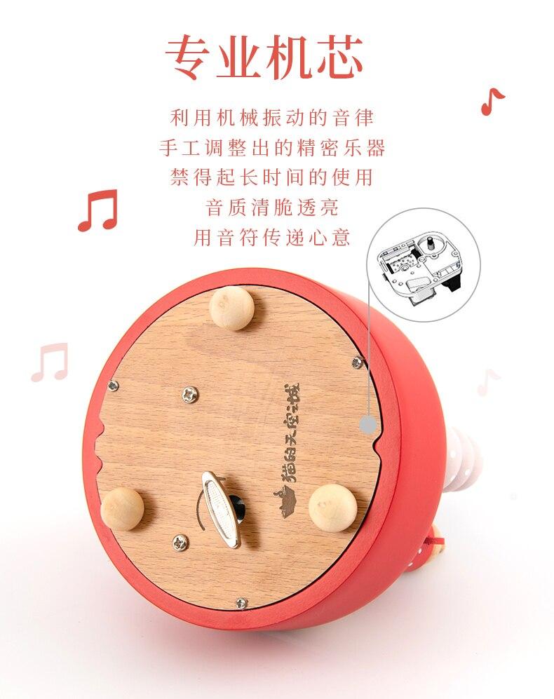 Caixa de música artesanal céu cidade de