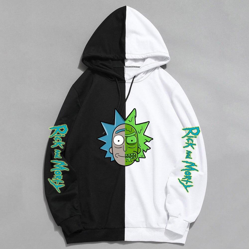 2020 New Spring Rick And Morty Sweatshirt Men Women Funny Streetwear Harajuku Hip Hop Hoody Long Sleeve Hoodies Man's Sudaderas