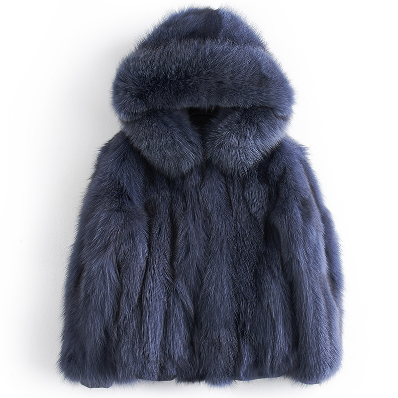 Fox Real Fur Coat Female Jacket Winter Jacket Women Natural Warm Fur Jackets For Women Luxury Outwear Chaqueta Mujer MY S