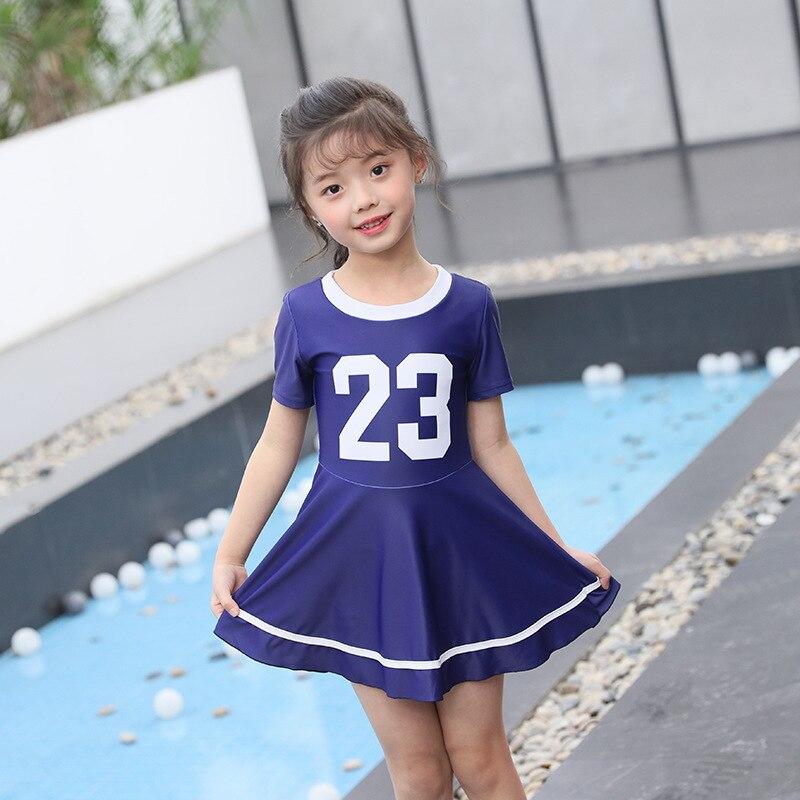 Korean-style Hot Springs Students Big Boy Split Type Basketball-Style Sports KID'S Swimwear Conservative Boxer Skirt Bathing Sui