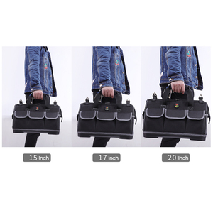 Image 5 - Large Capacity Tool Bag Hardware Organizer Crossbody Belt Men Travel Bags Spanner Toolkit Electrician Carpenter Handbag Backpack