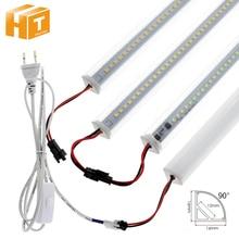 Light Led-Tubes Under-Cabinet Wall-Corner Kitchen 72leds V-Shaped 220V 50cm 1-6pcs-Set
