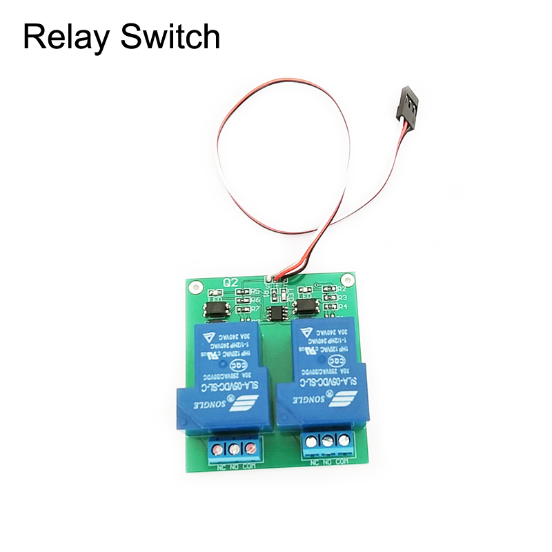 1PCS Upgraded 30A PWM Relay Switch 1Ch Servo Signal Input 2CH Electric Switch LED/Smoke Remote Control   Board For RC Drone
