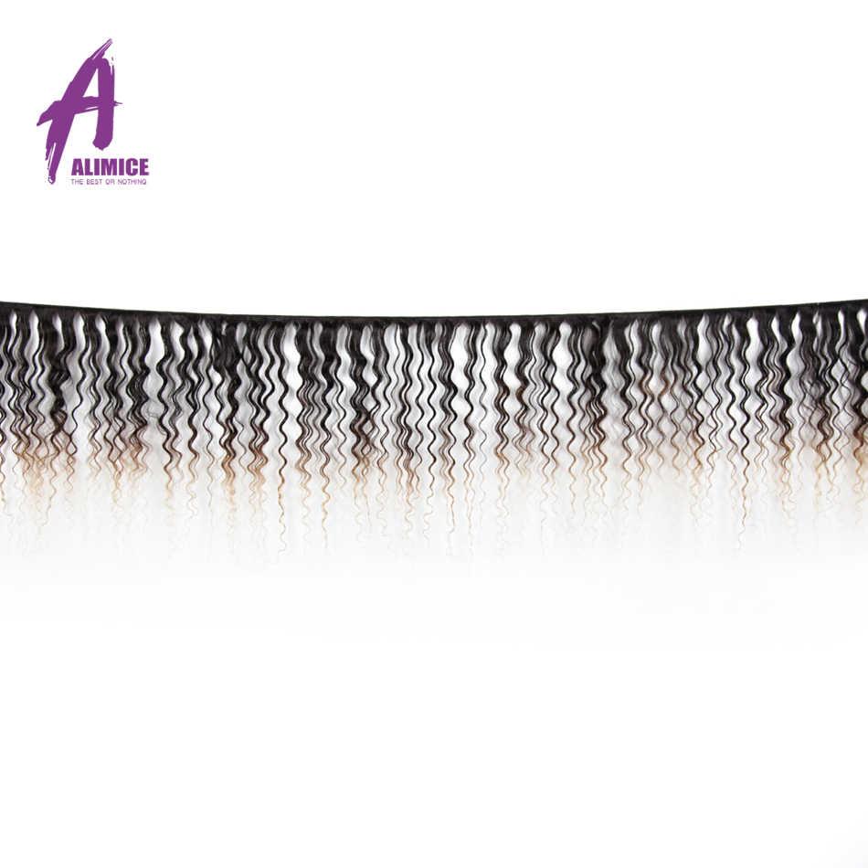 ALIMICE эффектом деграде (переход от темного к 3 Связки с закрытием индийские волосы глубокая волна человеческих волос T1B/4/30 эффектом деграде (переход от темного к три тона Волосы remy волос для наращивания