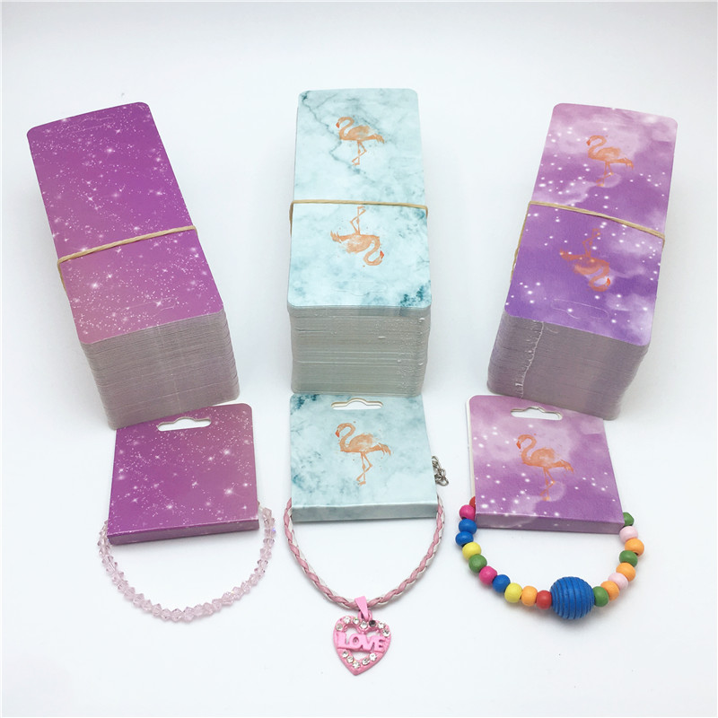 30pcs 12x5cm Rectangular Color Jewelry Display Card Bracelet/necklace/hairband Packaging Card Accept Customization