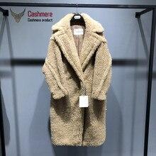 Women's Coat Gold Silk Teddy Bear Fur Coat Women Alpaca Coat Women Wool Coat Loose Coat 2020 Winter Thicken Coat High-end Coat coat ardatex