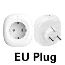 WiFi Smart Socket EU Plug 250V 10A Timing Switch Remote Control  Smart Socket Work For Amazon Alexa Google Assistant TY-EU-6S все цены