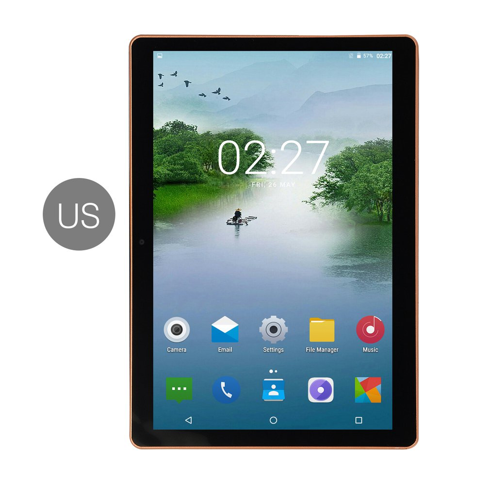 10.1 Inch IPS Screen Android 8.0 Ten-core Tablet PC 6GB+64GB Dual SIM Card Slots 3G Phone Call With GPS FM