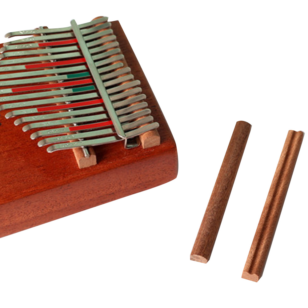 2 Pcs DIY Parts Musical Instrument Thumb Piano Bridge Solid Practical Natural Accessories Wooden Replace For 17keys Kalimba