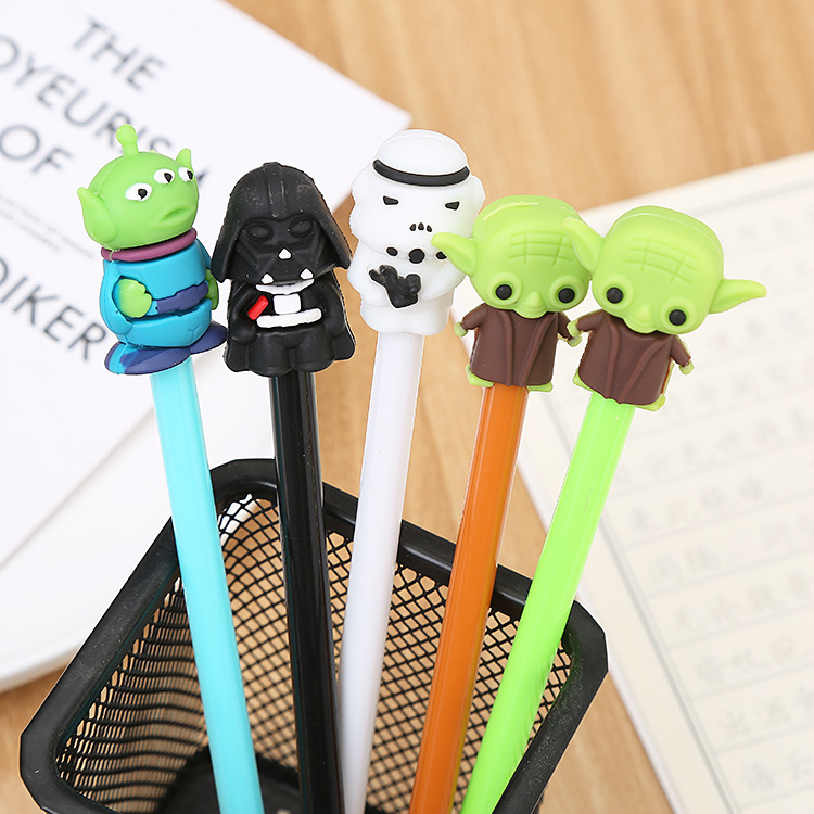 Star Wars Black White Warrior Gel Pen Cute Student Office Stationery School Water Gel Ink Pen Black Ink Signature Pen Escolar