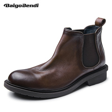 Ankle-Boots Shoes Winter Business-Man Gift COOL Boy Slip-On Men Luxury