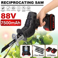 NEW 88V Cordless Reciprocating Saw Rechargeable Wood Metal Cutting with Battery and 4 Pieces Blades Power Tools
