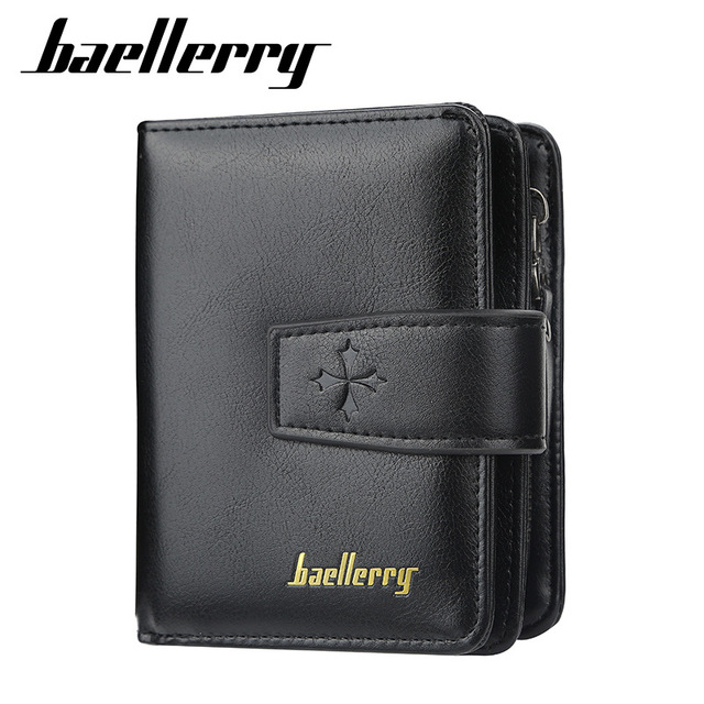 New Business Men Wallets Zipper Card Holder High Quality Male Purse New PU Leather Vintage Coin Holder Men Wallets 2