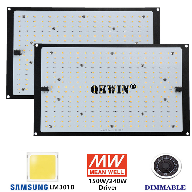 high quality QB 120W 240W Led Grow Light Board Full Spectrum Samsung LM301B SK 3000K 3500K 4000K 660nm DIY