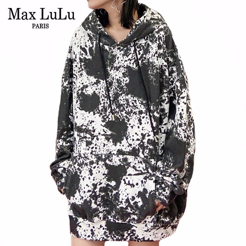 Max LuLu New 2020 Spring Korean Fashion Designer Ladies Printed Hooded Hoodies Womens Camouflage Sweatshirt Loose Casual Clothes