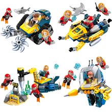 Diving Spar Team Mining Drilling Machine Boat Building Blocks Sets Bricks Model Kids Lepin Toys lepin 17006 928pcs kirk s house rare limited edition model building kits set blocks bricks lepins toys clone 4000007