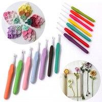 1pc Aluminium Colorful Knitting Crochet Needles Sewing Weave Tools Crochet Hooks Knit Craft Yarn Accessories Knitting Needles