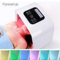 7 cores pdf led terapia de luz led máscara de rejuvenescimento da pele fóton dispositivo spa acne removedor anti-rugas tratamento de luz led vermelho