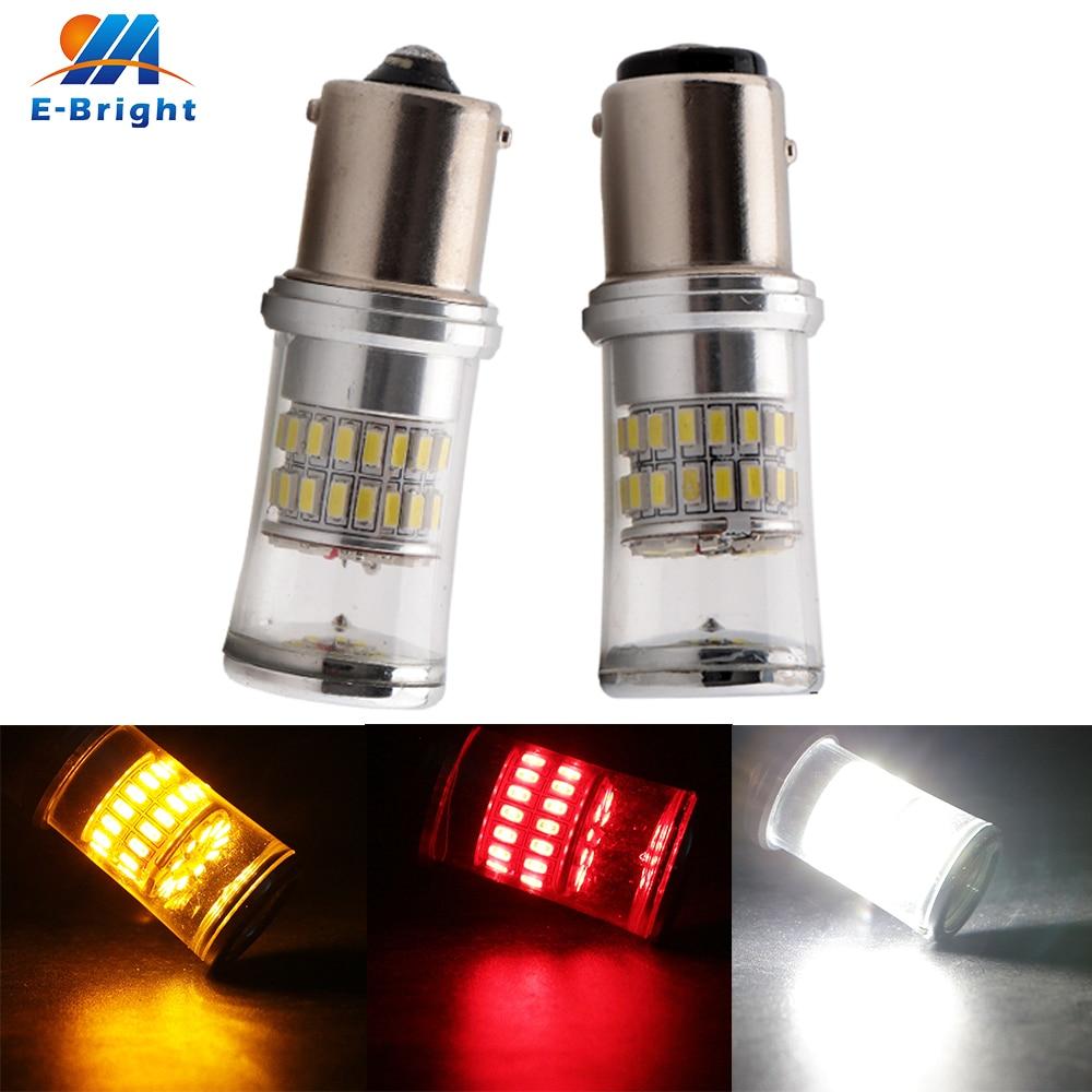 10pcs 12V 3014 48 SMD 1156 BA15S 1157 BAY15D White Red Amber Lens Led Bulb Brake