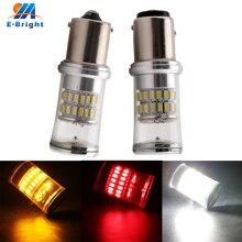 10pcs 12V White Red Amber Lens 3014 48 SMD 1156 1157 Led Bulb Brake Stop Indicator Tail Turn Signal Light for Cars Free Shipping