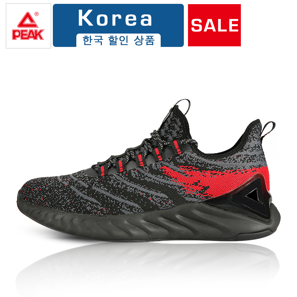 PEAK TAICHI Sneakers Men's Sports Outdoor Shoes Adaptive Shock Absorption Sneaker Elastic Knitting Breathable Vamp Running Shoes