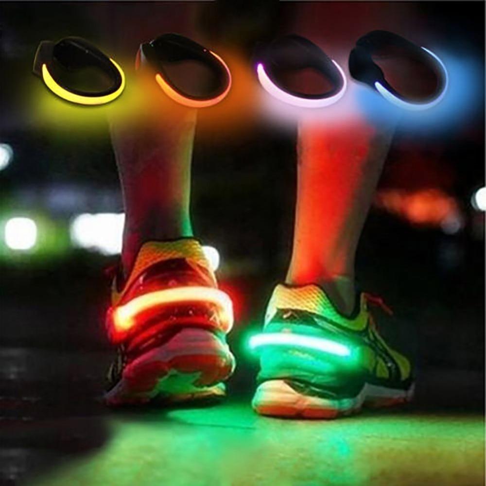 LED Luminous Shoe Clip Outdoor Bicycle Night Running Shoe Safety Cycling Sports Travel LED Luminous Warning Light New Fashion
