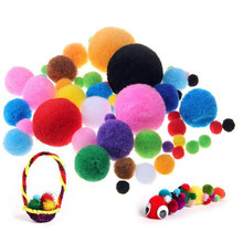 40/100/200pcs/lot Wool Felt Balls 10/15/20/25/30/40mm Round Wool Felt Balls Pom Poms Mixed color wholesale(China)