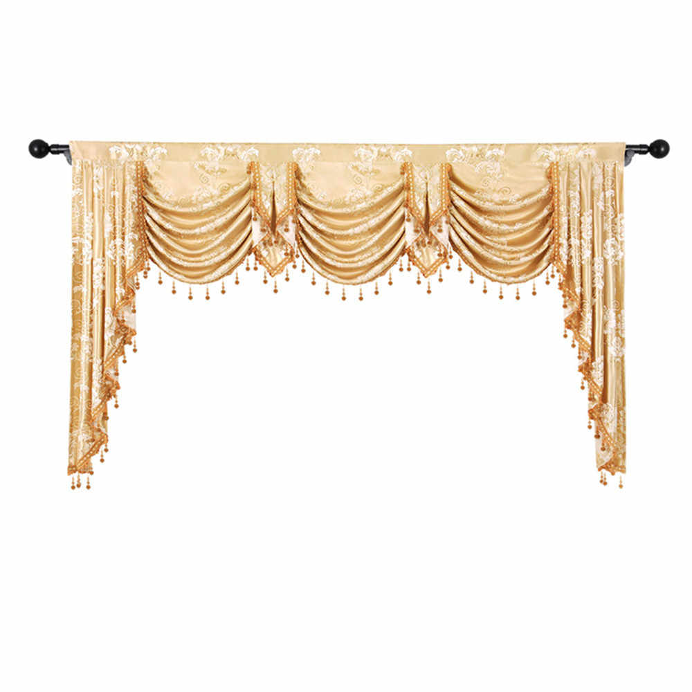 European Royal Luxury Valance Pelmet Curtains For Living Room Windows Bedroom Swag Curtain Wedding Backdrop Stand Curtains Aliexpress