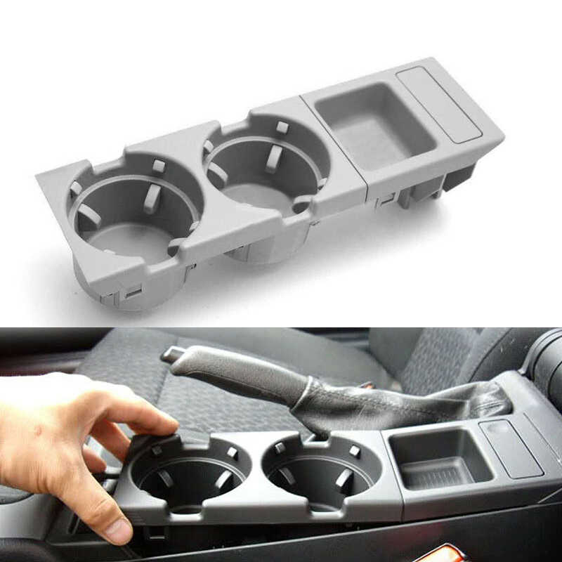 KKmoon Car Drink Holder Plastic Centre Console Dual Cup Holder Replacement for BMW E39