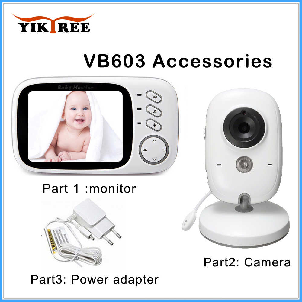 Accessories: 3.2 inch Wireless Video Color Baby Monitor, Power Adapter, Baby Nanny Security Camera for VB603 ,VB605 Universal