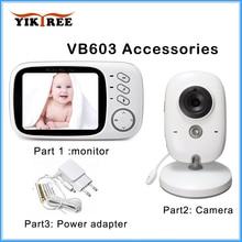 Akcesoria: 3.2 cal bezprzewodowy Monitor kolorowy niania elektroniczna Baby Monitor, zasilacz, niani kamera ochrony dla VB603 ,VB605 uniwersalny