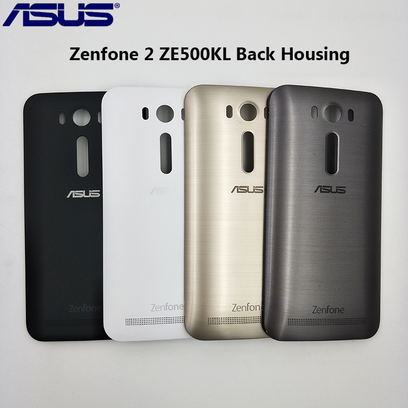 Original ASUS Zenfone 2 Laser ZE500KL Rear Door Housing Cover Repair Battery Back Case Replacement With Power Button&Logo 5 Inch