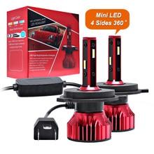 Lambası H1 H7 Led Canbus far 100W 10000LM 4 tarafı 360 derece HB3 HB4 araba LED ampul H4 H3 h11 9005 9006 9007 880 H27 ışıkları 12V