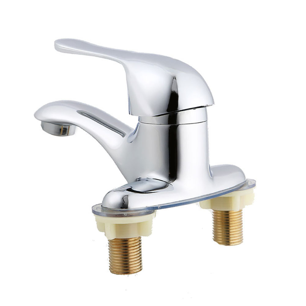 Zinc Alloy Double Couplet Bathroom Faucet Hot And Cold Water Basin Single Holder Dual Hole Base Bathtub Sink Faucet Wash Basin