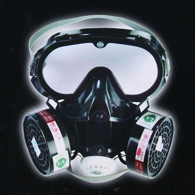 1Set 9600A One Piece Full Face Respirator Dust Gas Mask for Painting Spary Smoke Fire Synthesis Protection E65A