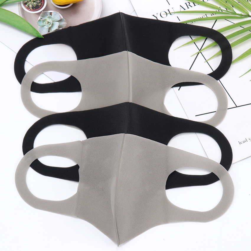 1PC Black Korean Version Sponge Mouth Mask Breathable Unisex Sponge Face Mask Reusable Anti Pollution Face Shield